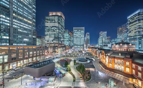Fotografia  東京駅とビル群