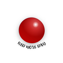Red Nose Day On Isolated White...
