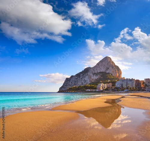 Deurstickers Canarische Eilanden Playa de Fossa beach in Calpe and Ifach