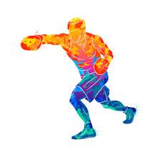 Abstract Boxer Man, Mixed Mart...
