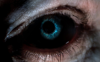 Zbliżenie straszne oko