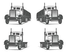 Vintage Truck Fuel Logo Badge Element Design