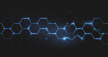 Electric Lightning Honeycomb Background