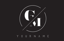 GM Letter Logo With Cutted And...