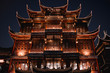 Leinwanddruck Bild - Traditiona Chinese Restaurant the Lubolang Clunb in the Yuyuan Bazaar Shanghai China