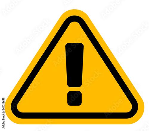 感嘆符 注意 警告サイン Canvas Print