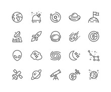 Simple Set Of Space Related Ve...