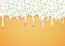 Ice Cream Cone Illustration Wi...