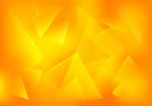 Vector Broken Glass Yellow Background. Explosion Abstract 3d Bg For Summer Party Posters, Banners Or Advertisements.