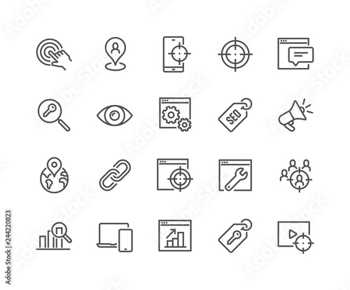 Fotografía Simple Set of SEO Related Vector Line Icons