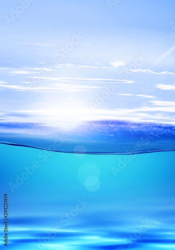 Fotografie, Obraz  underwater in tropical hot climate