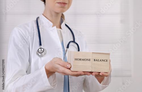 Vászonkép Female Hormone balance , Gynecology concept
