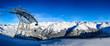 Panorama Pistenabfahrt am Giggijoch in den Ötztaler Alpen