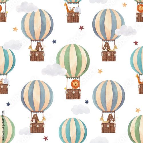 balon-powietrza-akwarela-wektor-wzor