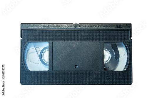 VHS Cassette on a white background.  Recording tape. Fototapet