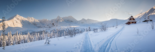 Fototapeta Hala Gasienicowa - Tatry, zima 01.2019 obraz