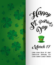 St Patrick Day Card With Top Hat