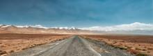 Long Pamir Highway M41, Taken In Tajikistan In August 2018 Taken In Hdr
