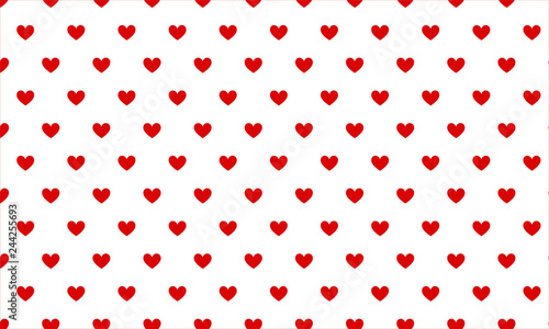 fototapeta na ścianę Small red hearts on white background seamless pattern for Valentine's Day
