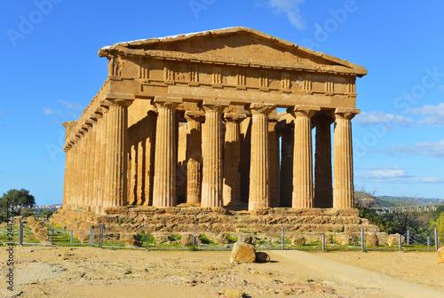 Ancient Greek Temple Concordia in Agrigento Sicily
