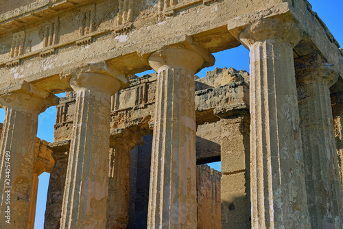 Fotografie, Obraz  Remains of Ancient Greek Temples in Agrigento Sicily