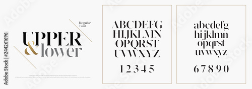 Photo Elegant alphabet letters font set
