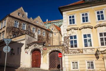 Fototapeta na wymiar Beautiful architecture of Prague old town
