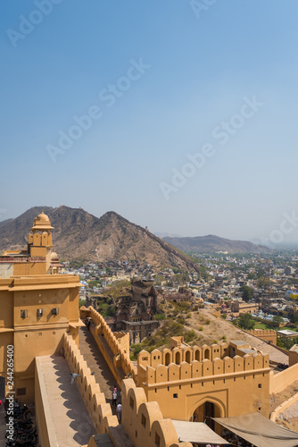 Foto op Canvas India Amber fort (Public place) : The Beautiful architecture in (Pink City) Jaipur, Rajasthan, India