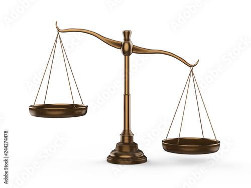 Foto Bronze law scale