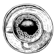 Hand Drawn Coffee Cup. Vector ...