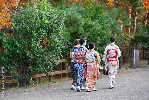 In de dag Asia land 着物で京都旅行