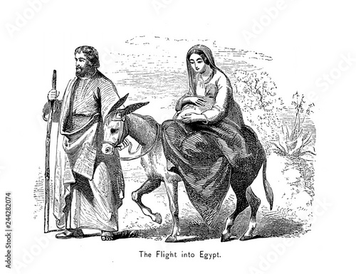 Fotografie, Obraz Flight into Egypt.