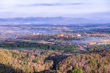 Top View Of Prathat Cho Hae Temple With Native Village In Phrae Province