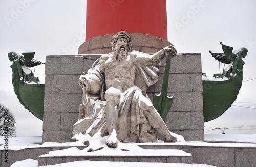 Fotografía  Statue of allegory of the Dnieper river.