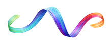 Wavy Colorful Brushstroke Or C...