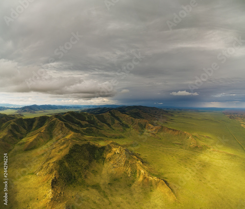 Photo Stands Spring Mongolian mountain natural landscapes near
