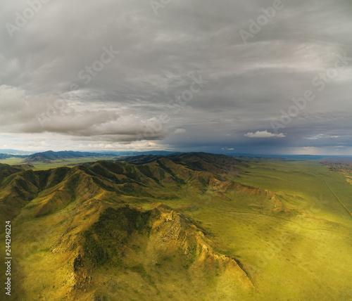 Foto op Aluminium Blauw Mongolian mountain natural landscapes near