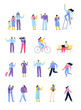 Vector people set isolated on white background. Flat cartoon characters.
