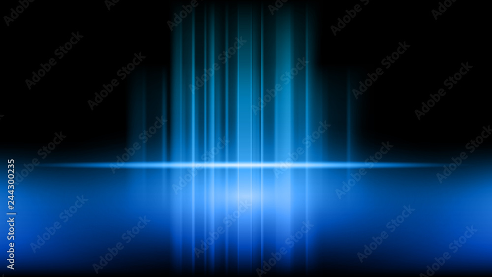 Fototapety, obrazy: Stage and presentation of product on blue showroom studio background