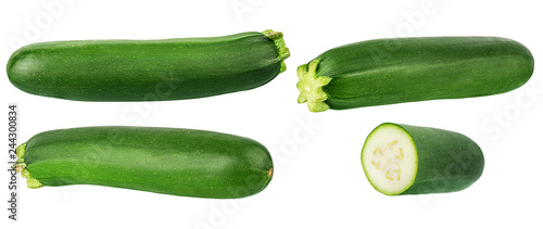 Poster Légumes frais Fresh vegetable marrow isolated on white background