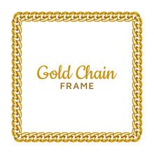 Golden Chain Square Border Fra...