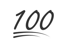 100 - Hundred Number Vector Ic...