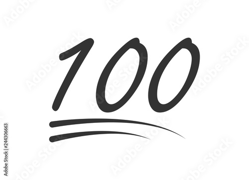 Fotomural  100 - hundred number vector icon