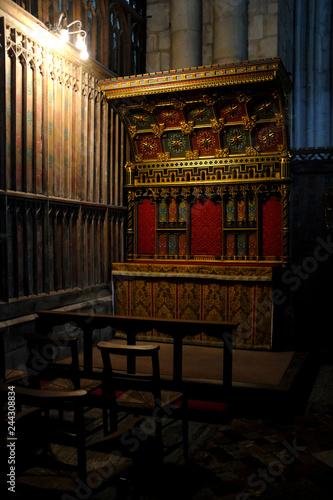 Obraz na plátně Detalle del interior de la Abadía de Gloucester