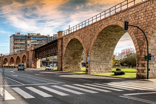 View of historic English cable or Alquife bridge in Almeria, Spain.