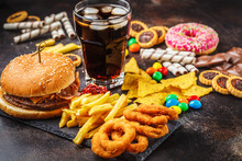 Junk Food Concept. Unhealthy F...