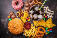 Junk Food Concept. Unhealthy F...