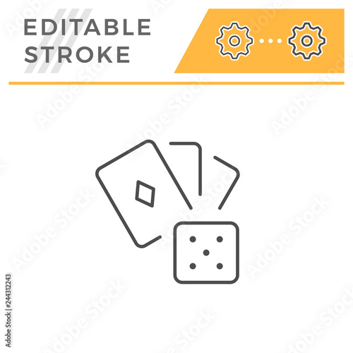 Foto  Gambling line icon