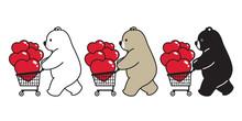 Bear Vector Polar Bear Heart V...