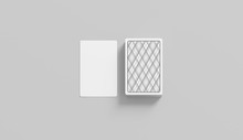 Blank White Playing Card With ...
